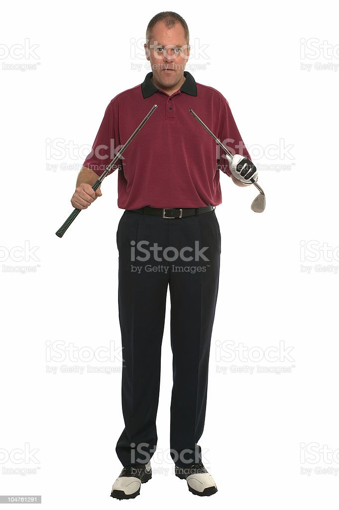 Golfer Oh F.... stock photo