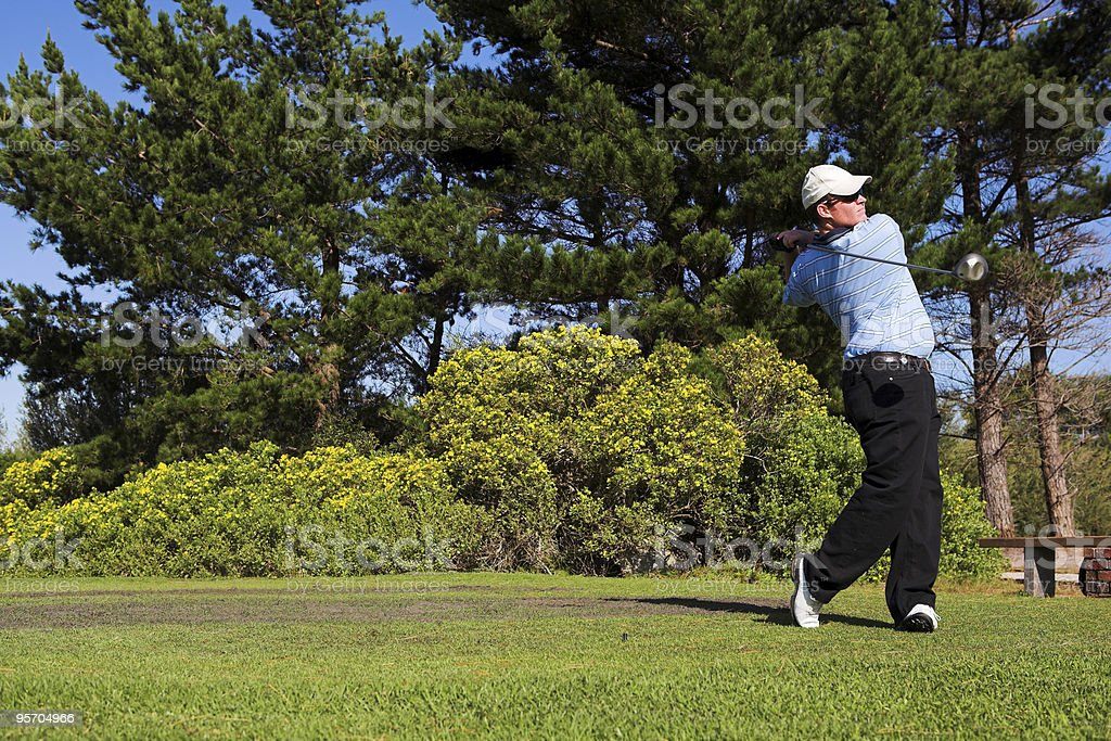 Golfer on the tee royalty-free stock photo