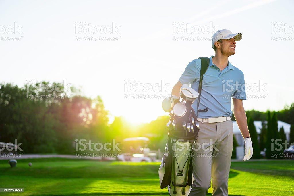 Golfspieler - Lizenzfrei 2015 Stock-Foto
