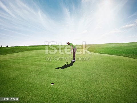 golfer playing golf