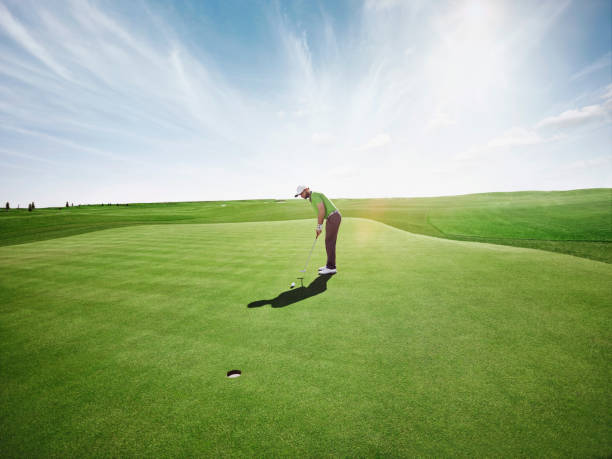 golfer golfer playing golf green golf course stock pictures, royalty-free photos & images