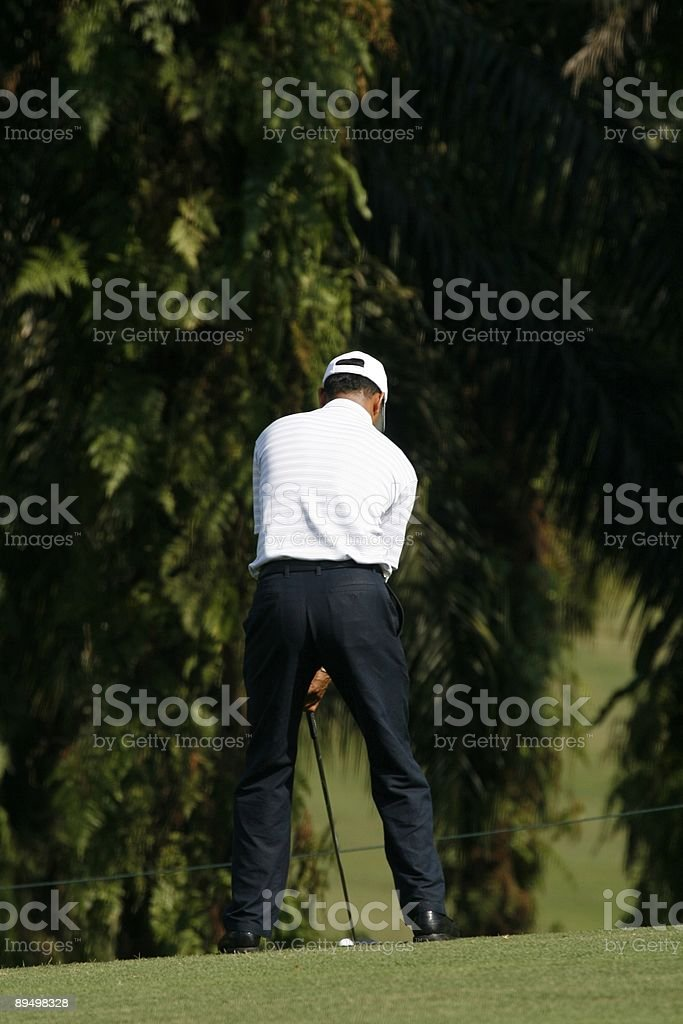 Giocatore di golf foto stock royalty-free