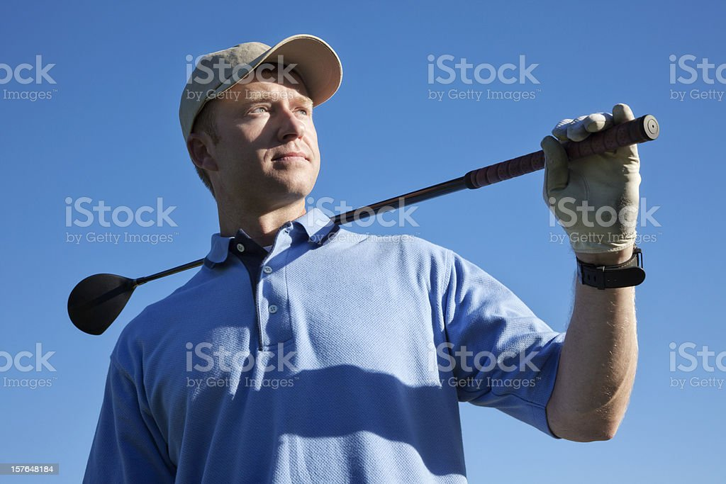 Golfer Portrait royalty-free stock photo