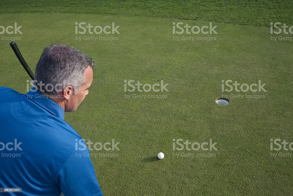 Golfer Putting royalty-free stock photo