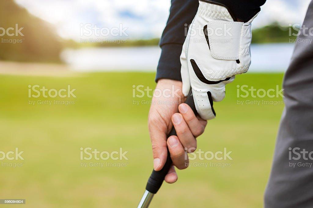 golfer shooting a golf ball royalty-free stock photo