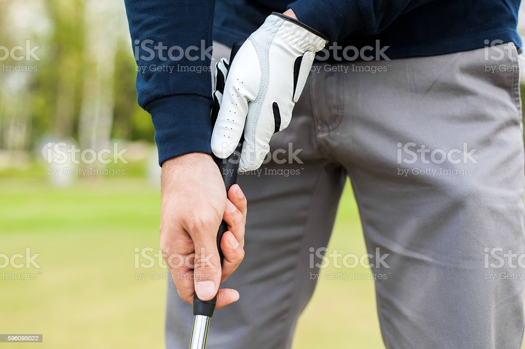 golfer shooting a golf ball royalty-free stock photo