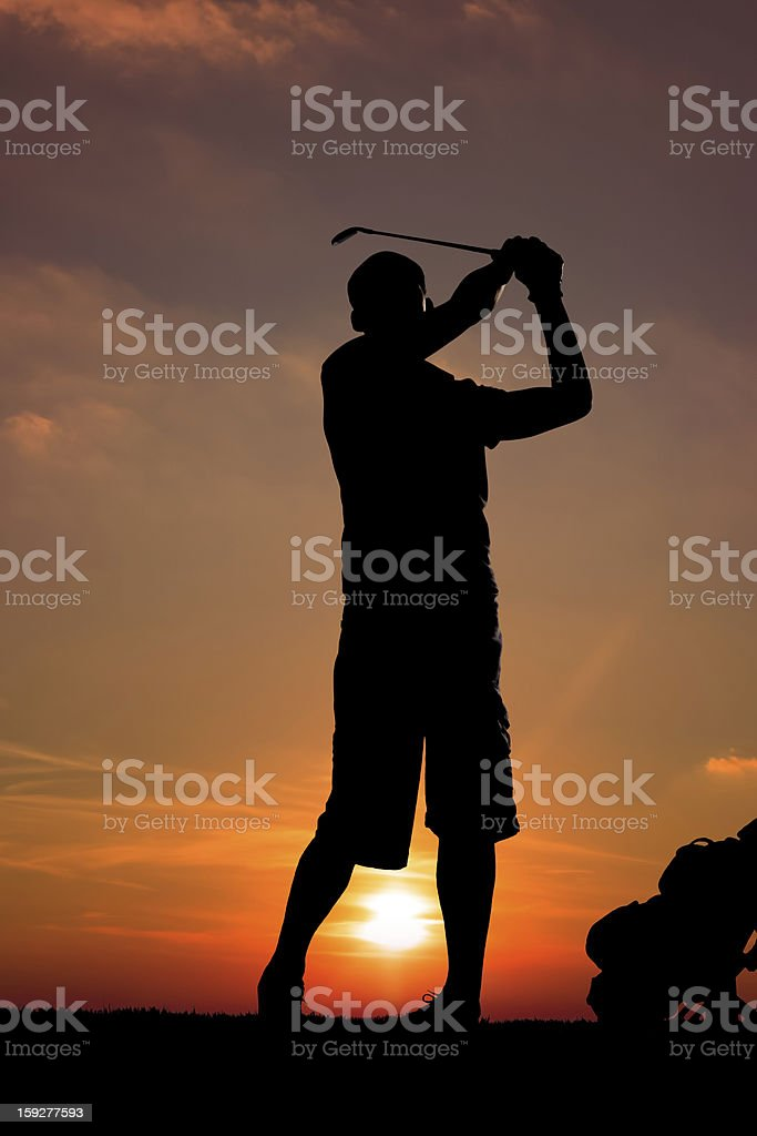 golfer silhouette royalty-free stock photo