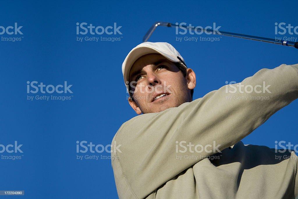 Golfer Staring it Down royalty-free stock photo
