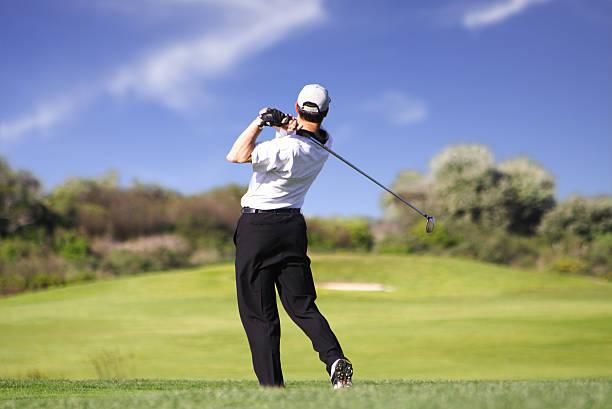 Golfspieler swing – Foto