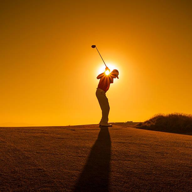 golfer swinging - golf sommar skugga bildbanksfoton och bilder