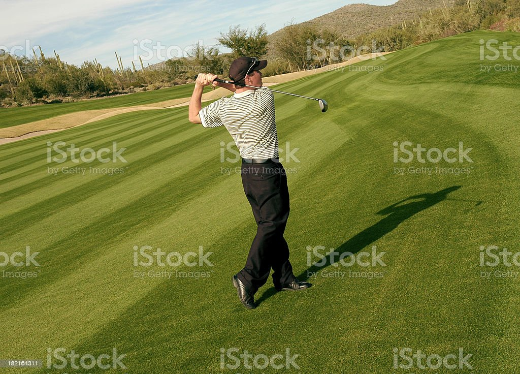 Golfer Swinging1 royalty-free stock photo