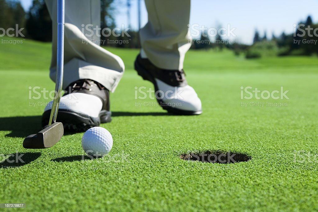 Golfer Tapping In stock photo