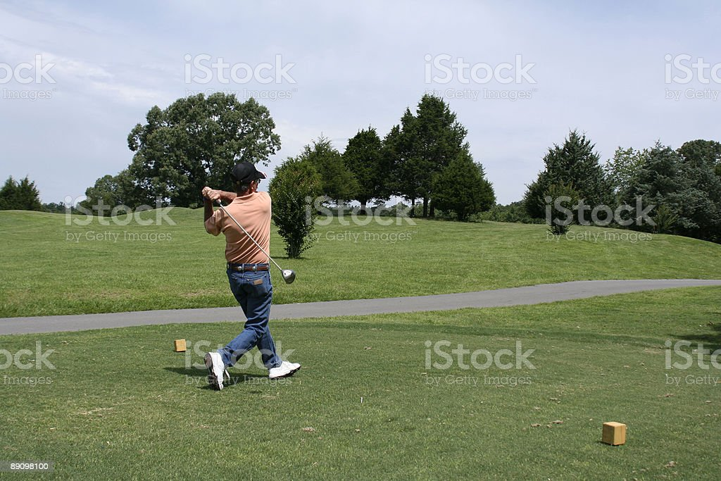 Golfspieler Abschlagen Lizenzfreies stock-foto