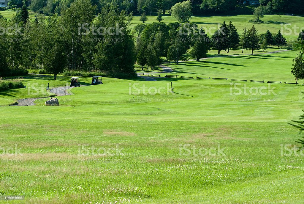 Golfers at the tee-box royalty-free stock photo