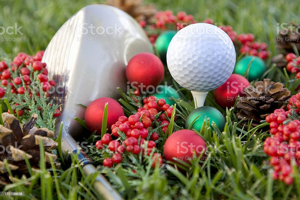 golfer's Christmas stock photo