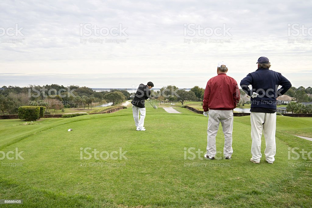 Golfers royalty-free stock photo