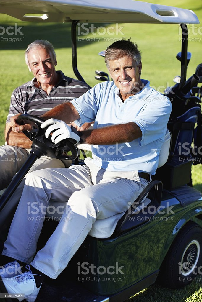 Golfers ready for a game stock photo