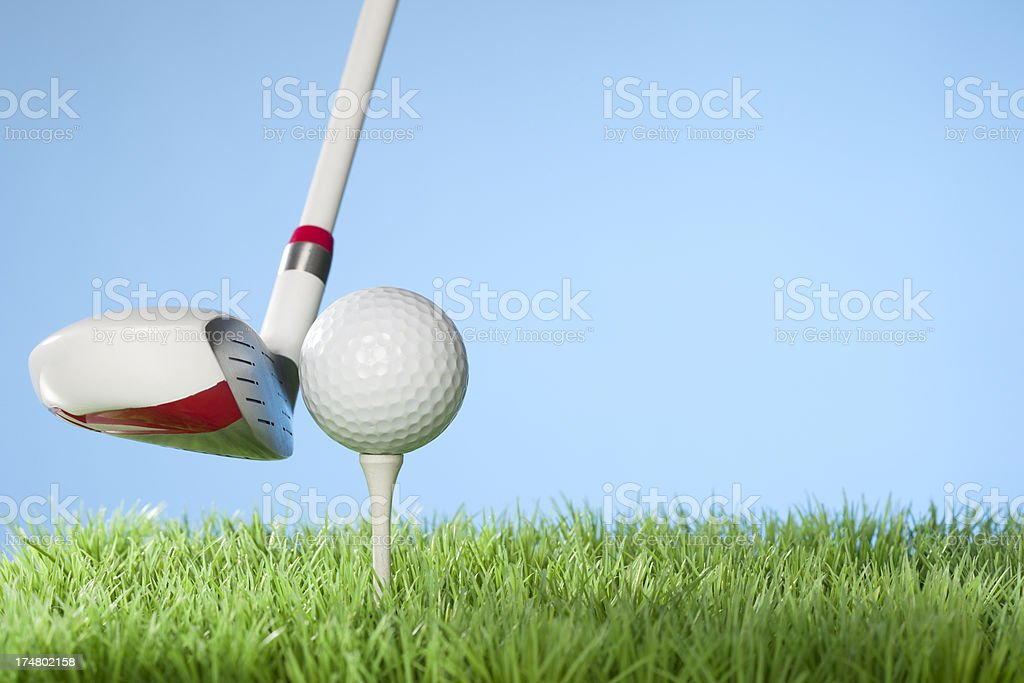 Golfing concept series royalty-free stock photo