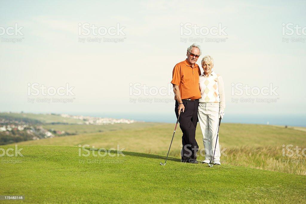 Golfen Paar Lizenzfreies stock-foto
