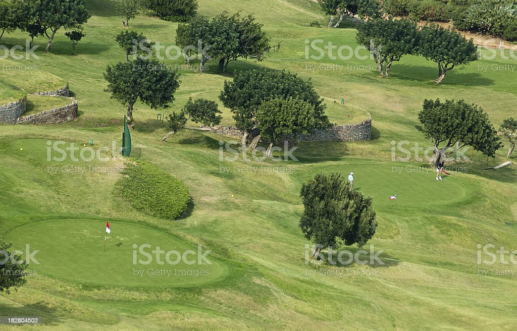 Golfing course royalty-free stock photo