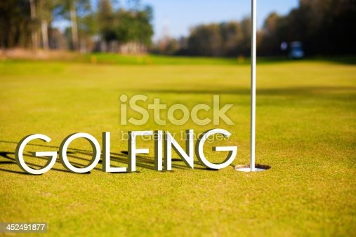 683035640 istock photo Golfing design background photography and typography 452491877