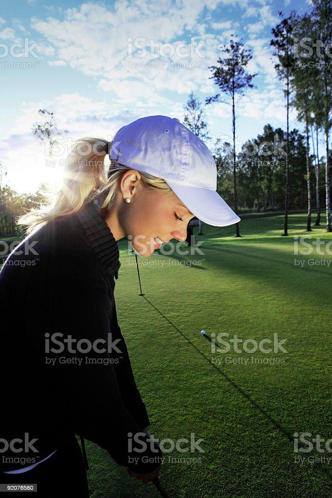 Golfing Girl royalty-free stock photo