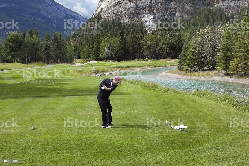 Golfing in Banff National Park royalty-free stock photo