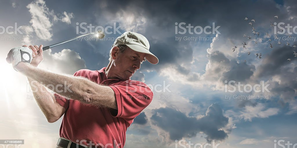 Golfing In The Sun stock photo