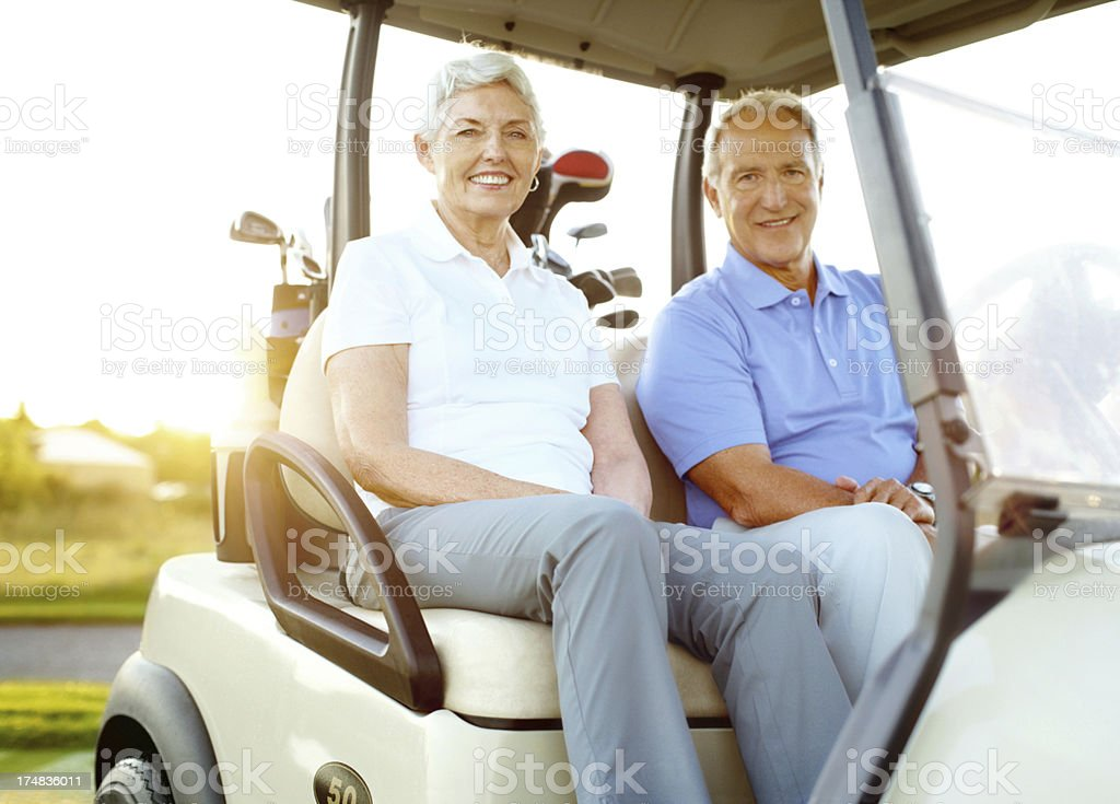 Golfing is leisure, recreation and bonding rolled into one! royalty-free stock photo