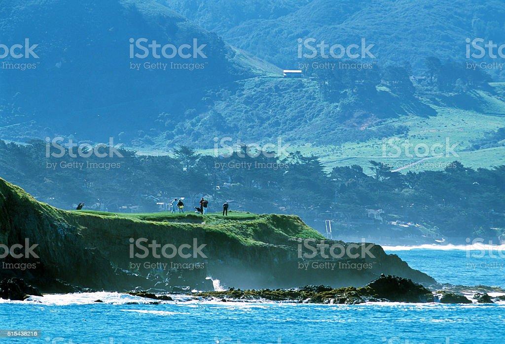 Golfing on the Monterey Peninsula stock photo