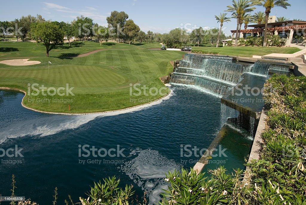 Golfing Paradise stock photo