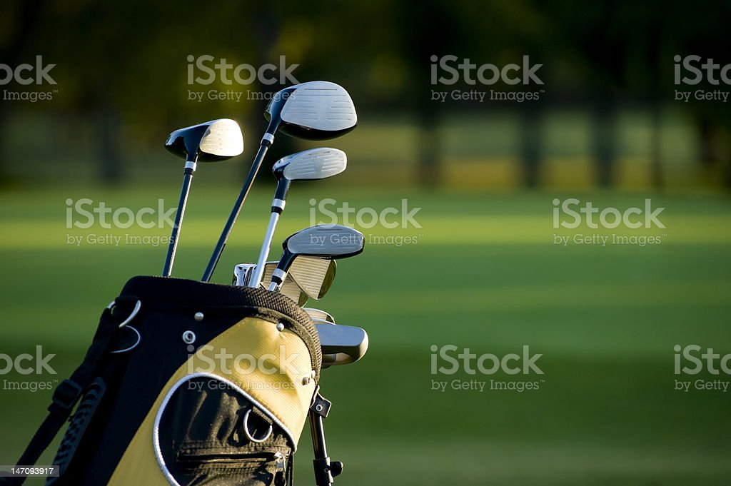 Golfing royalty-free stock photo