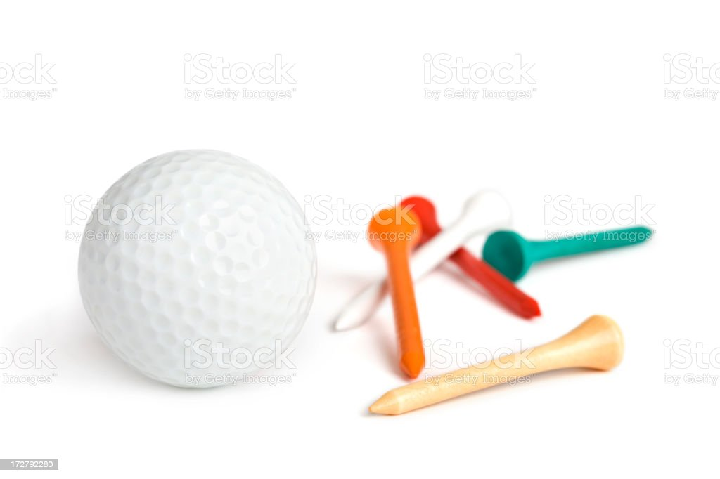 Golfing (XL) royalty-free stock photo