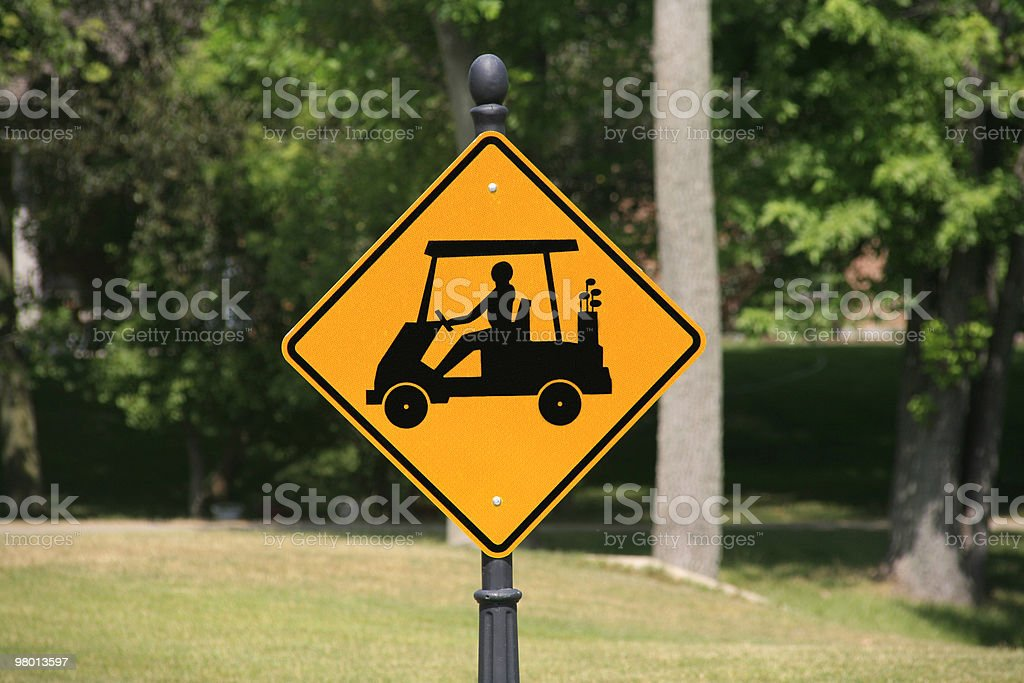 Golfing Sign royalty-free stock photo
