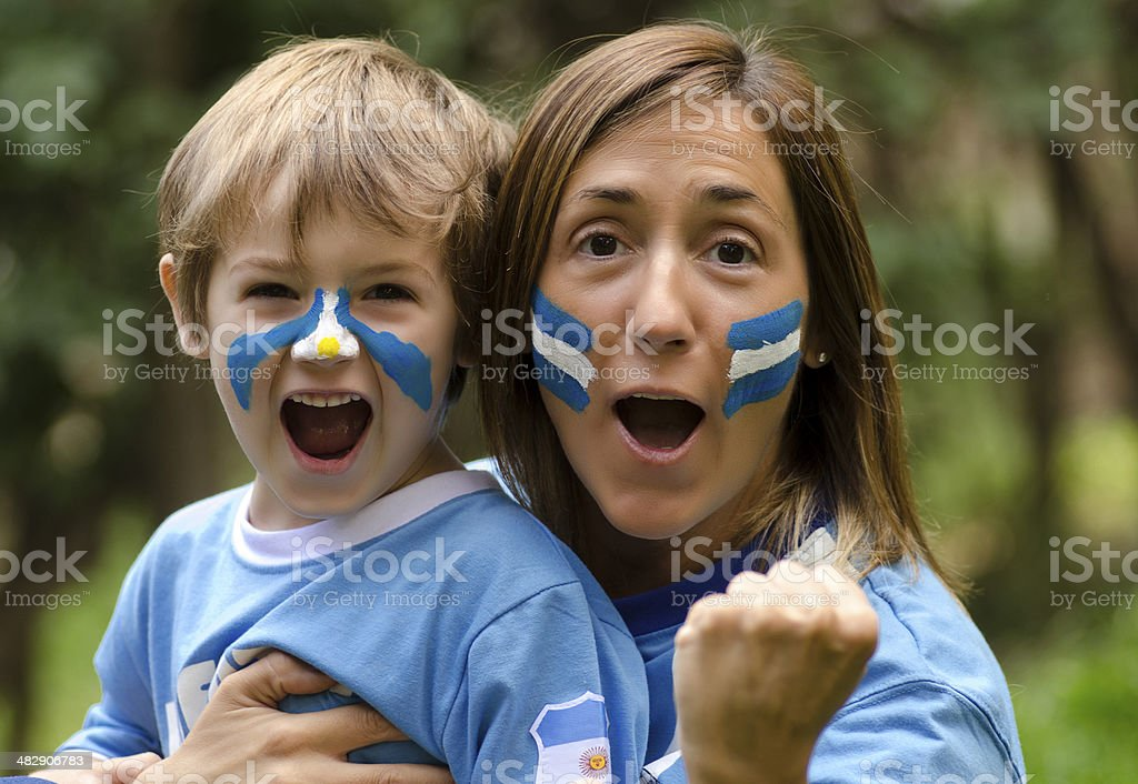 Abrazo de Gol royalty-free stock photo