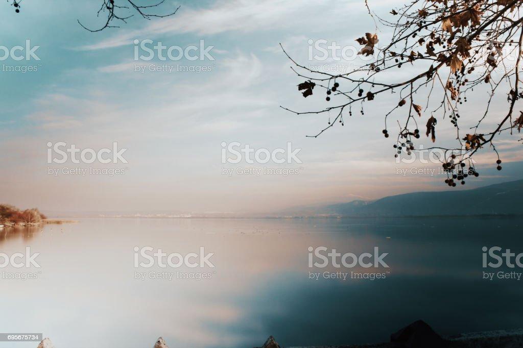 Golyazi Lake view stock photo