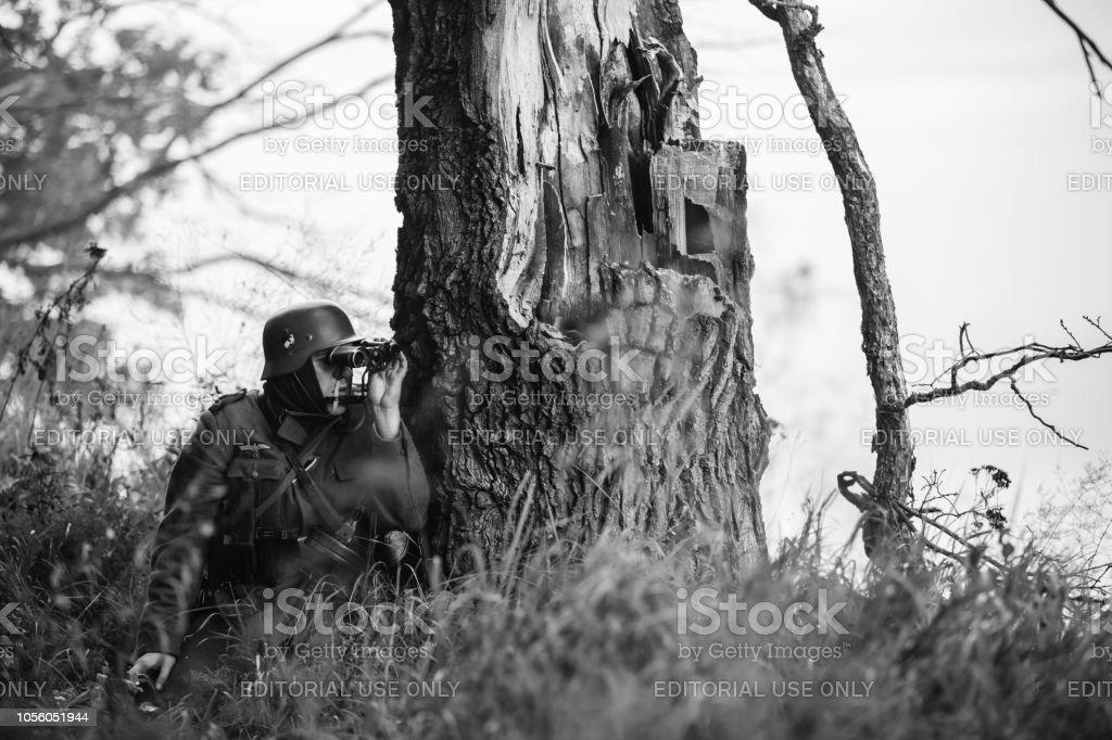 Gomel weißrussland versteckte deutsche wehrmacht infanterie soldat