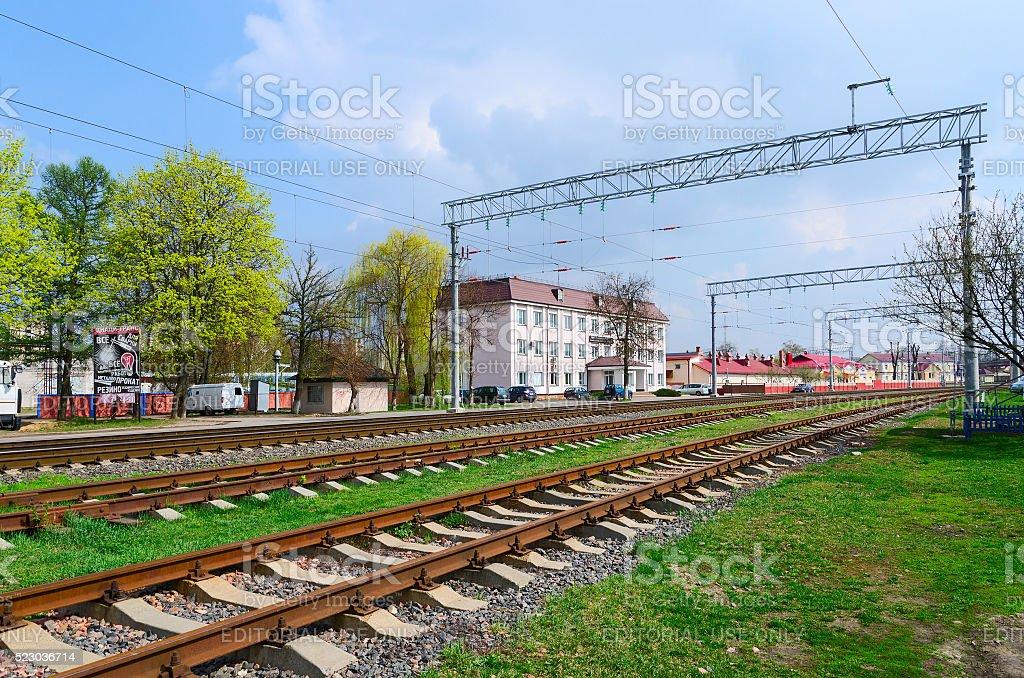 Gomel distance path, Gomel, Belarus stock photo