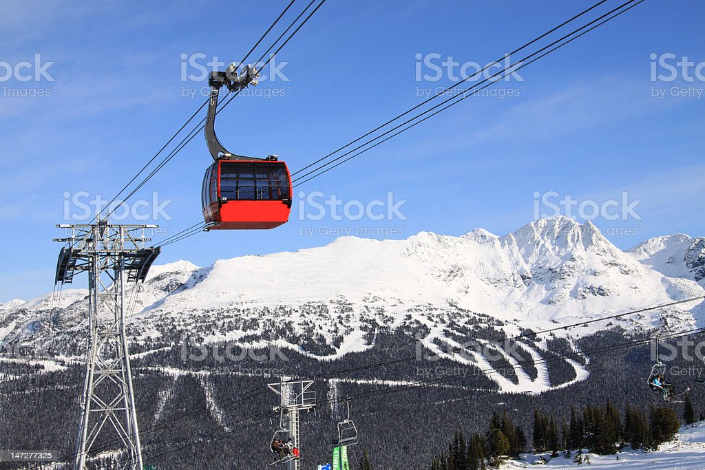 Gondola at Whistler Blackcomb Resort royalty-free stock photo