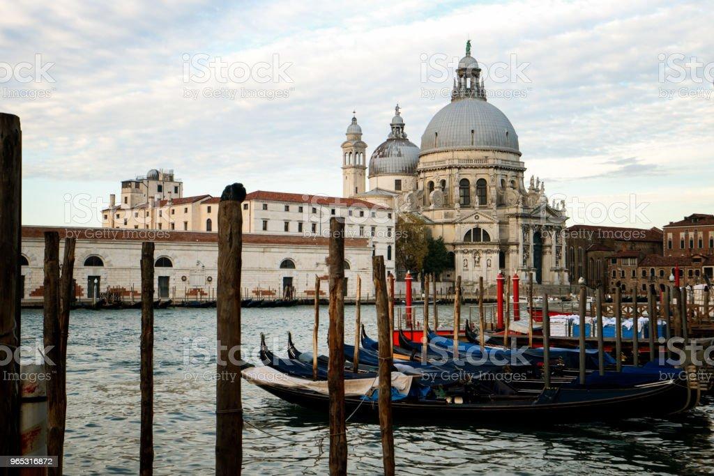 Bateaux de gondole à Venise - Italie - Photo de Architecture libre de droits