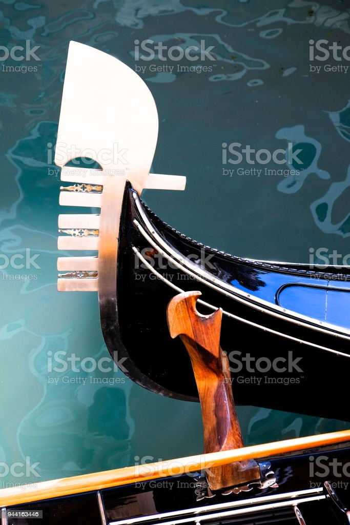 Gondola Bow stock photo