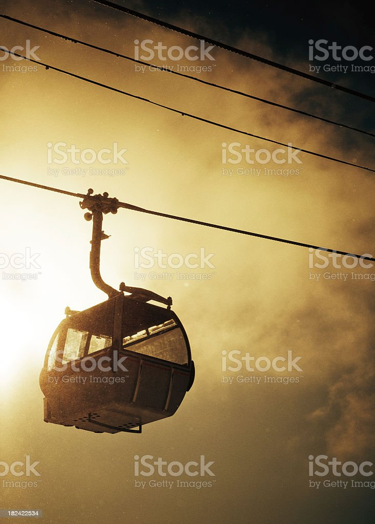 gondola cable car on a ski resort royalty-free stock photo