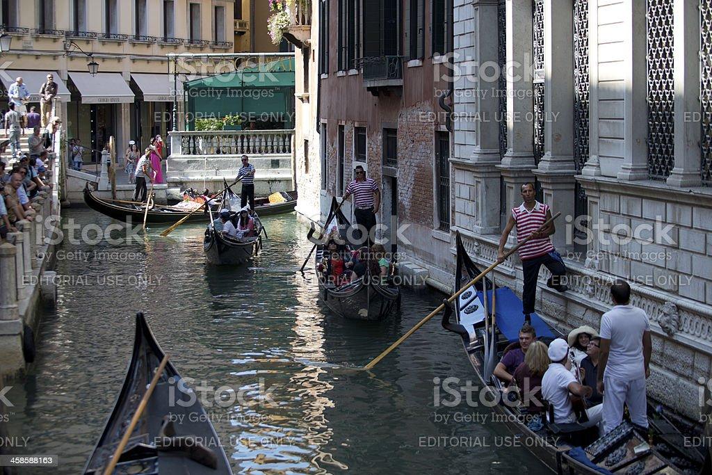 Gondola Canal royalty-free stock photo