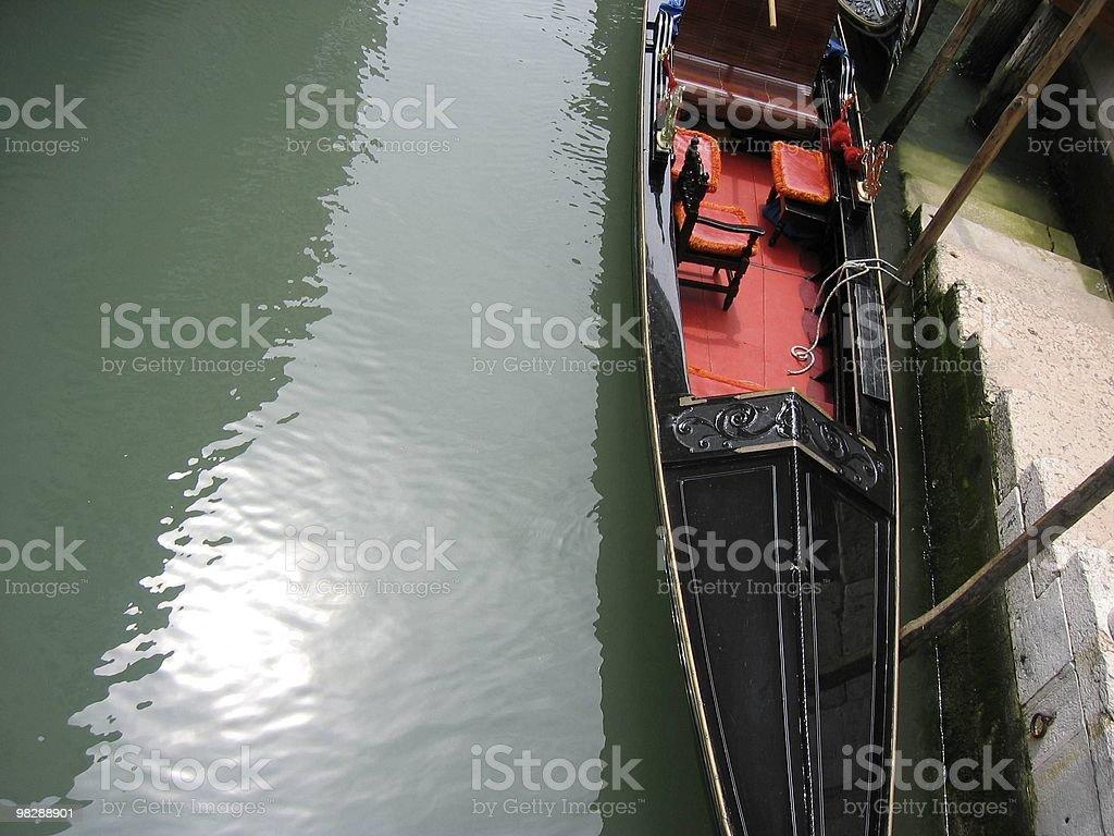 Gondola sul Canal Grande, Venezia Italia & scala foto stock royalty-free