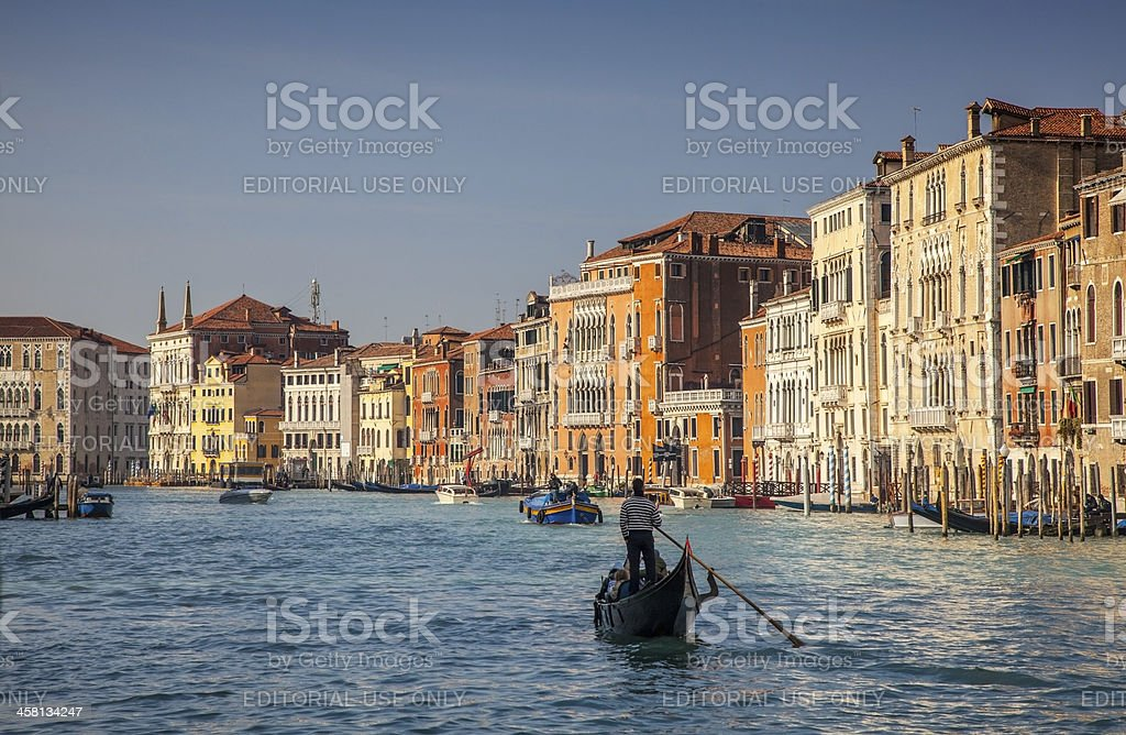 Gondola Cruise on the Grand Canal in Venice royalty-free stock photo