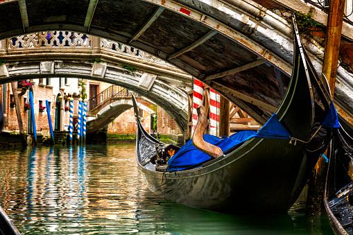 Gondola in a Venice canal
