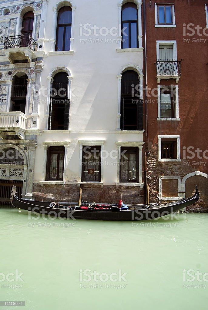 gondola  in canal stock photo