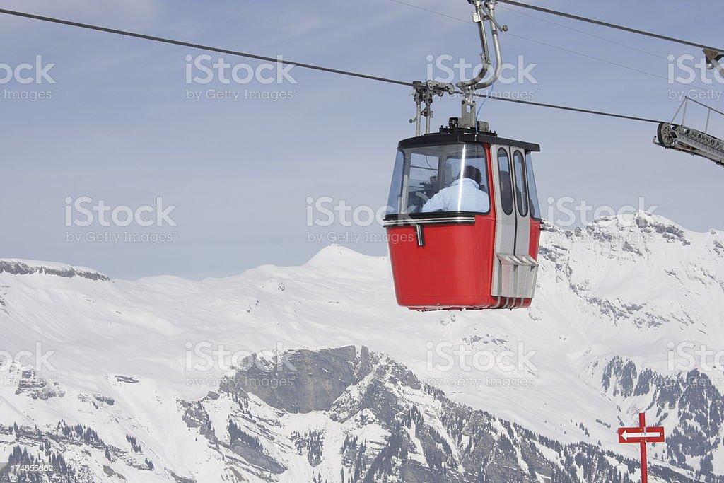 Gondola in the Alps royalty-free stock photo