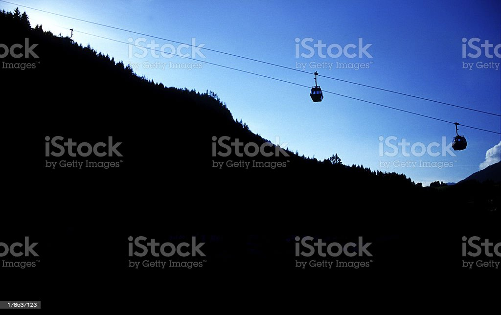 Gondola in the sunset royalty-free stock photo