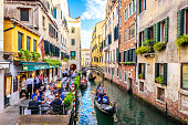 Venice canal and buildings, Italy